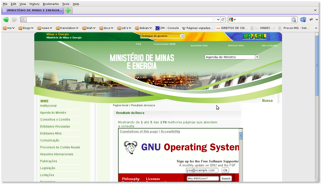 301 moved permanently for Ministerio de minas